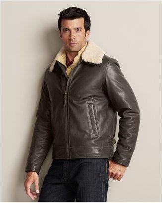 Eddie Bauer Leather Aviator Jacket