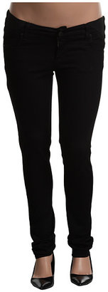 Paige Maternity Union Jegging in Vinyl
