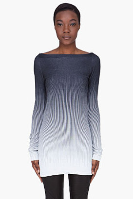 Gareth Pugh Long Charcoal Cashmere Sweater