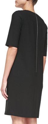 Diane von Furstenberg Half-Sleeve Shift Dress with Pockets