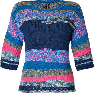 Marc by Marc Jacobs Estate Blue/Multi Anarchie Pullover