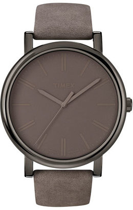 Timex 'Easy Reader' Leather Strap Watch, 42Mm $65 thestylecure.com