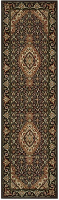 "Nourison Closeout! Area Rug, Persian Arts BD03 Black 2'3"" x 8' Runner Rug"