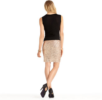 Rachel Roy Sequin Pencil Skirt