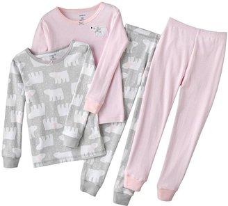 Carter's polar bear & striped pajama set - toddler