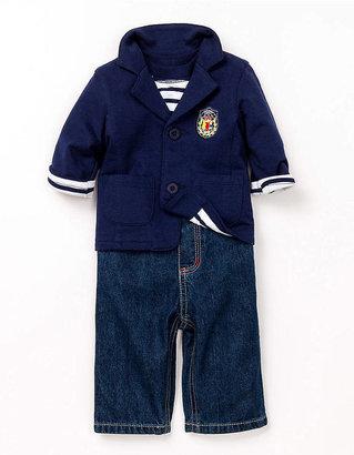 Little Me Baby Boys 12-24 Months Preppy Jacket & Denim Pants Set