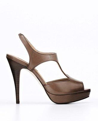 Ann Taylor Shannon Leather Platform Sandals