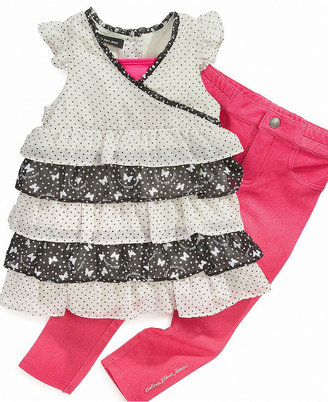 Calvin Klein Kids Set, Little Girls Printed Top and Colored Skinny Pants