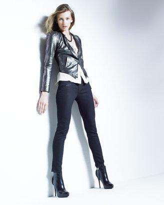 Of Two Minds Jayelo Metallic Leather Jacket