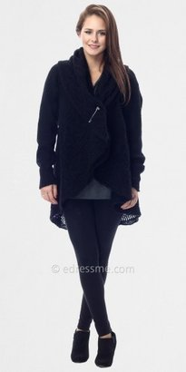 Black Shawl Collar Sweaters by Classique