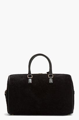 Saint Laurent Black Suede & Leather Duffle 12 Bag
