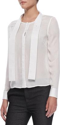 J Brand Ready to Wear Ntalya Long-Sleeve Blouse