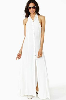 Nasty Gal Conquest Maxi Dress - Ivory
