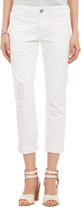 Current/Elliott Seamed Army Buddy Trousers - DIRTY WHITE