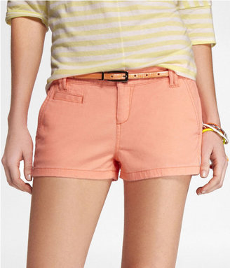 Express 2 Inch Neon Trouser Shorts