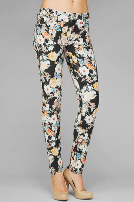 7 For All Mankind The Skinny In Twill Midnight Floral Print