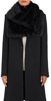 Barneys New York Women's Fur Scarf-BLACK $350 thestylecure.com