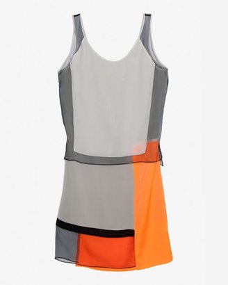 Helmut Lang Chroma Colorblock Dress