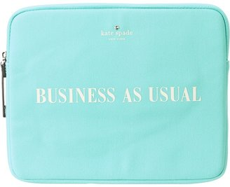 Kate Spade Business As Usual Tablet Sleeve (Bright Beryl/Clotted Cream) - Bags and Luggage