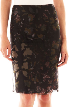 MNG by Mango Floral Pencil Skirt
