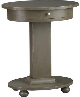 Crate & Barrel Sorano Oval Nightstand