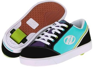 Heelys Prepster (Little Kid/Big Kid/Women's) (Black/Purple/Lime Green/Aqua/White) - Footwear