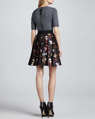 Milly Super Fine Merino Wool Zip-Back Sweater