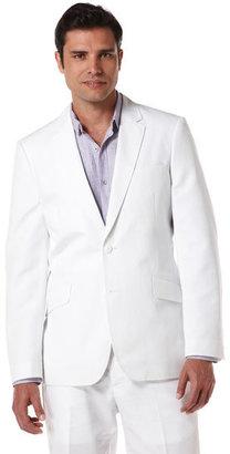 Cubavera Slim Fit Cotton Linen Herringbone Blazer