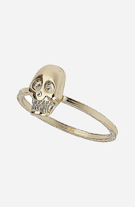 Topshop Skull Midi Ring Gold Large