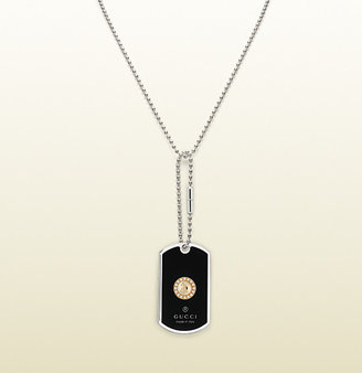 Gucci dog tag necklace with Grammy® logo engraving