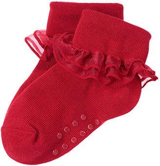Gymboree Organza Ruffle Foldover Sock