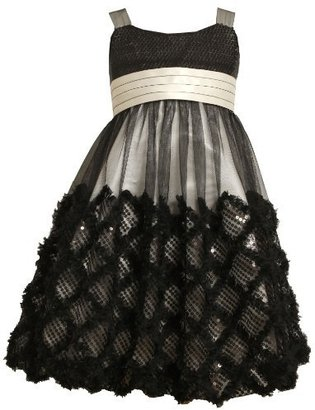 Bonnie Jean Girls 7-16 Criss Cross Border Bubble Dress