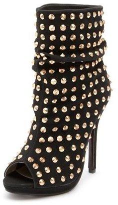 Charlotte Russe Studded Peep Toe Heel Bootie