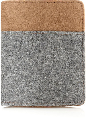 Topman Grey Melton Wallet