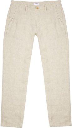 NN07 Karl Ecru Linen Trousers