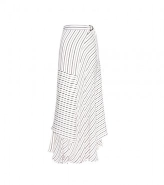 Chloé Pinstriped crepe skirt