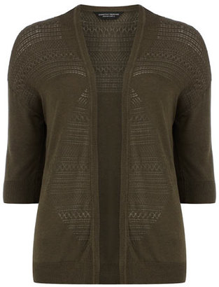 Dorothy Perkins Forest pointelle edge to edge cardigan