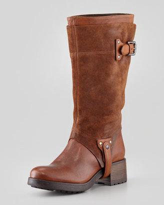 Vera Wang Essie Suede-Cuff Boot, Cognac