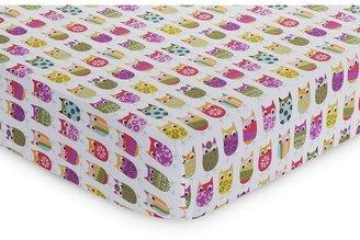 Zutano owls crib sheet