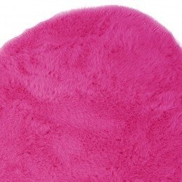 Pilepoil Pink Heart Faux Fur Rug