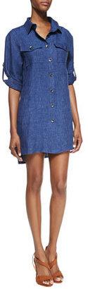 Milly Chambray Linen Shirtdress