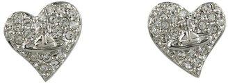 Vivienne Westwood Tiny Diamante Heart Studs