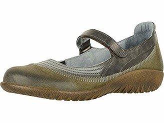 Naot Footwear Women's Kirei Maryjane Sterling Leather/Gray Suede/Gray Patent - 38 M EU