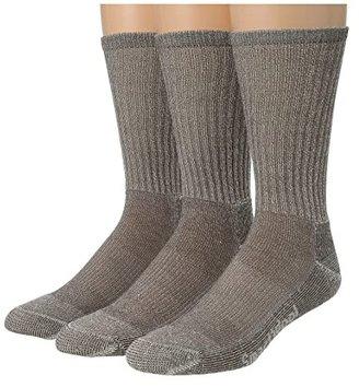 Smartwool Hike Light Crew 3-Pack (Gray) Men's Quarter Length Socks Shoes