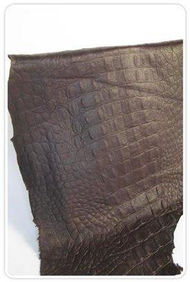Grey Sunshine Yuma Clutch in Chocolate Croc