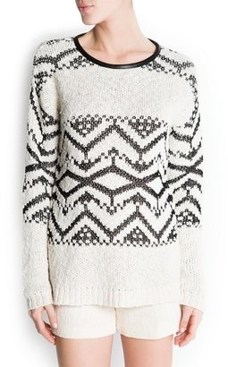 MANGO Tribal pattern sweater