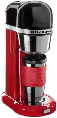 KitchenAid 4-Cup Coffee Maker with Multifunctional Thermal Mug in Onyx Black
