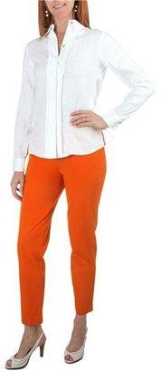 Paperwhite Garment-Washed Linen Shirt - Long Sleeve (For Women)