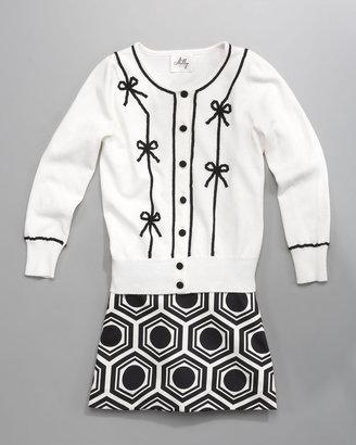 Milly Minis Mackenzie Geo-Print Skirt, Sizes 8-10