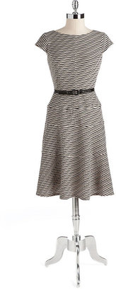 Anne Klein Textured Wave Dress